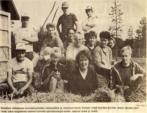 Ensimmäiset ravipiskelijat poseerasivat Keskipohjanmaa-lehdessä keväällä 1985.