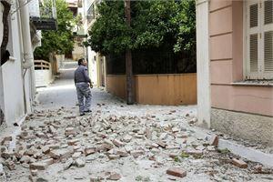 Kreikassa järisi maa myös kesäkuun 12. päivä Lesboksen saarella. LEHTIKUVA/AFP