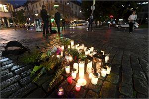 Turun keskustassa tapahtuneessa joukkopuukotuksessa haavoittui perjantaina kahdeksan ja kuoli kaksi ihmistä. LEHTIKUVA / VESA MOILANEN