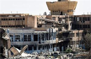 Raqqa on ollut Isisin hallussa vuodesta 2014 lähtien. Äärijärjestö on pitänyt Raqqaa kalifaattinsa pääkaupunkina. LEHTIKUVA/AFP