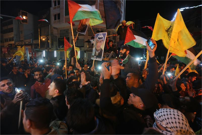 Gazassa puhkesi keskiviikkona mielenosoituksia Trumpin päätöksen seurauksena. Kuva: Mohammed Asad