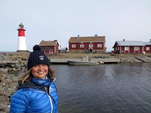 Hän kuvasi majakat-elokuvan päähenkilö valokuvaaja Ann-Brit Pada omalla lempimajakallaan Strömmigsbådanilla.