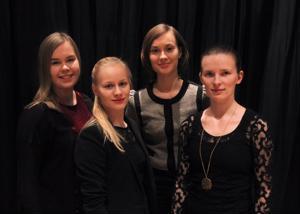 Emma Räihälä, Kirsi Anias, Marita Härö ja Sonja Karsikas konsertoivat Kalajoella.