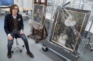 Anton Möller vanhemman 1500-luvun lopulla maalaama Nimettömän naisen muotokuva on konservoitu Vantaalla. Konservointityön on tehnyt Jukkapekka Etäsalo, sanoo intendentti Eero Ehanti