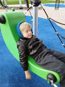 Liikuntapuisto on lasten mieleen.