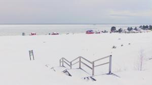 Hiekkasärkkien lumipeite 9. tammikuuta.