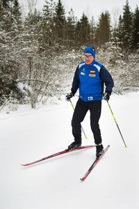 Martti Joensuulla ei ole ollut ongelmia hiihtoladulla koko talvena. Hiitolan olosuhteita hän kehuu erinomaisiksi.