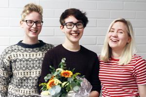 Venla Krook, Milja Eeronketo ja Jenna Lindelä arvostavat hyvää puhetaitoa.