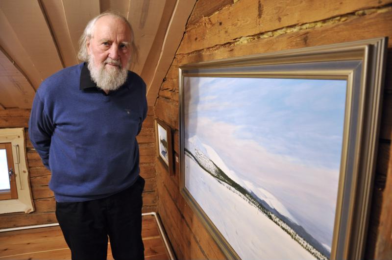 Valo Verronen on ikuistanut paljon Lapin maisemia. Ylläksen tunturit on vuodelta 2008.