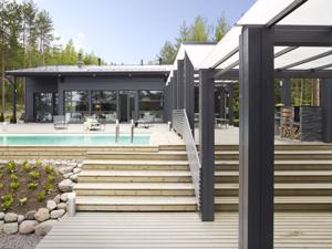 Kannustalon Harmaja-talomallisto on suunniteltu yhteistyössä sisustussuunnittelija Helena Karihtalan kanssa.