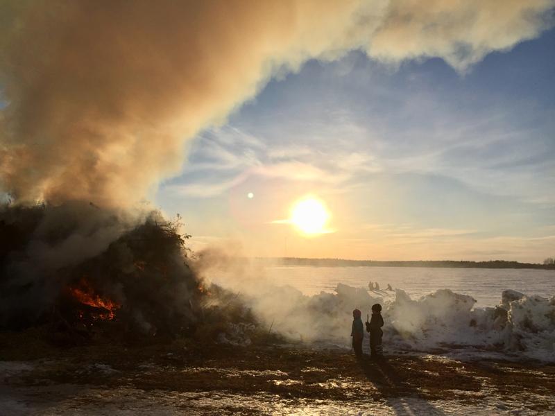 Kokko Rahkosen Ryöppään rannassa Ullavassa