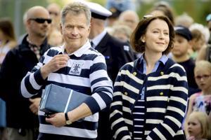Tasavallan presidentti Sauli Niinistö ja rouva Jenni Haukio vierailivat viime kesänä Kokkolan Meripuistossa.