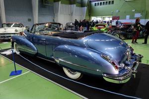 Vuosimallin 1947 Cadillac-harvinaisuus on esillä jenkkiautonäyttelyssä Kokkolassa viikonloppuna.