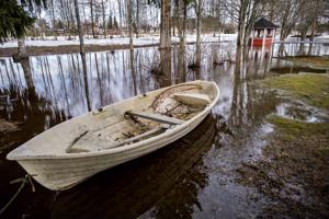 Kalajoki tulvii Alavieskassa.