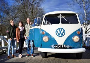 Kasperi, Susanna ja Toni Järvenpää lähtivät klainarilla lähimatkailemaan kotikuntaan Kaustiselle.