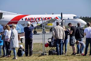 Vielä viikko sitten helatorstaina Nextjetin kone laskeutui Kokkola-Pietarsaaren lentoasemalle Kruunupyyhyn ilmailupäivän yleisön ihmeteltäväksi.