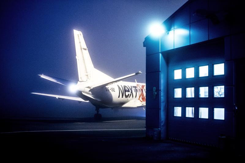 Nextjetin logo on häipynyt, mutta jo heinäkuussa Kruunupyystä pääsee Tukholmaan Air Leapin vuoroilla.