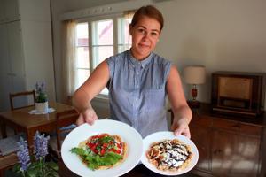 Maistuisiko vohvelilounas, ruokaisa Kesähelle ja makea Kesäheila? Joanna Ohenoja kalusti Suomelan vanhaan tyyliin suvulta lainatuilla ja kirppislöydöillä.