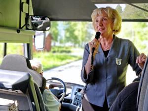 Ulla Nyströmin mielestä oppaan tehtävä on työtä parhaasta päästä.
