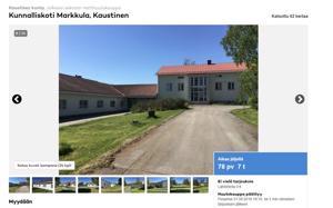 Kuvankaappaus Markkulan kunnalliskodin myynti-ilmoituksesta.