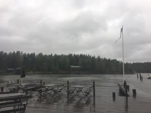 Kokkolan Öjassa sataa ja tuulee.