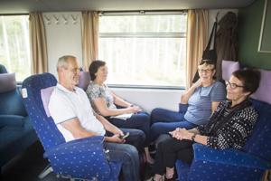 Veli-Matti Liukku, Sonja Liukku, Liisa Liukku ja Hilkka Liukku matkasivat Weteraanikonepäiville ensimmäistä kertaa.