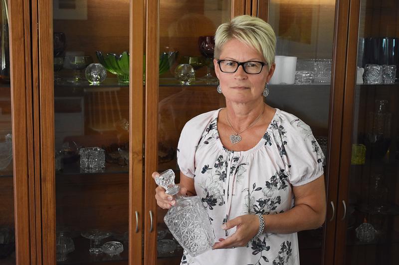 Sisko Isokosken yksi uusimmista löydöistä on upea kristallikarahvi.