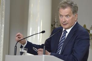 Tasavallan presidentti Sauli Niinistö oli tyytyväinen tapaamisen sujumiseen.