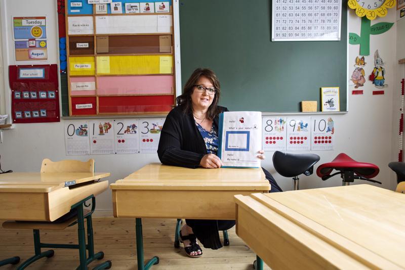 Mia Korpela on opettanut englantia 1.- ja 2.-luokkalaisille.