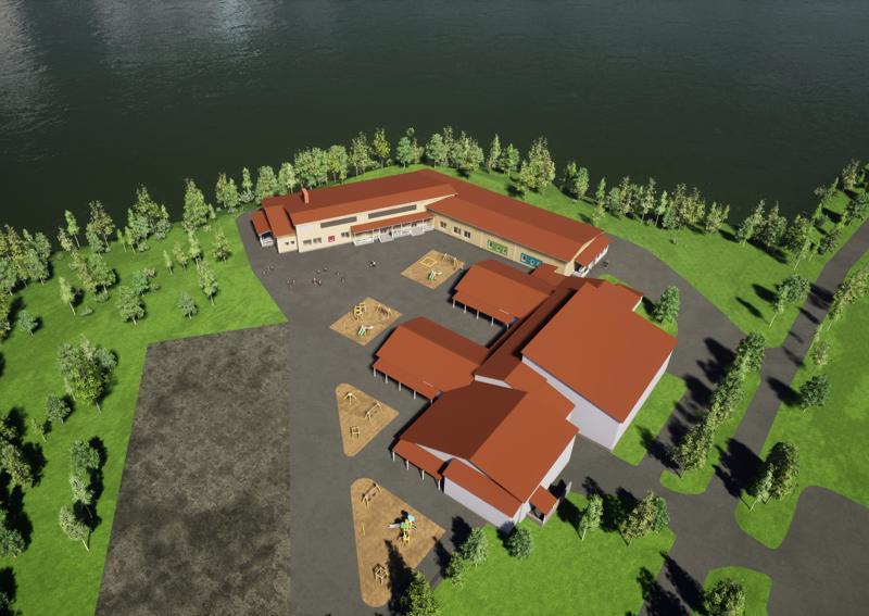 Ylivieskalainen Arkkitehtitoimisto Jorma Paloranta Oy on suunnitellut Niemenkartanon uudisrakennuksesta viihtyisän ja pirteän.