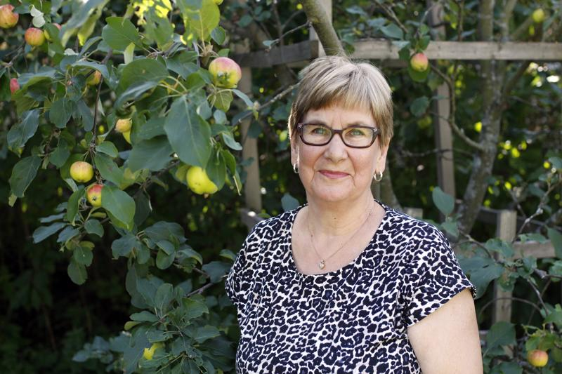 Signe Junnikkalan omenapuut tuottavat tänä syksynä hyvän sadon.