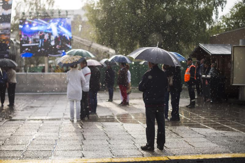 Ulkoilmatapahtumissa säähän ei voi vaikuttaa.