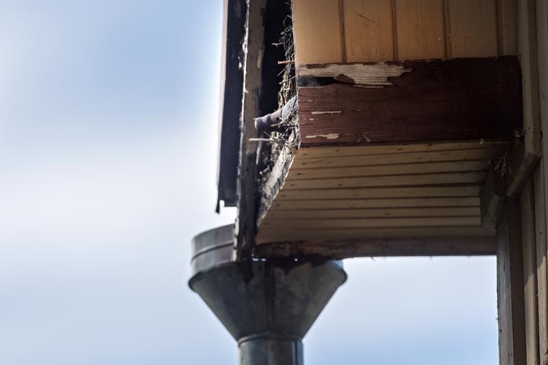 Kälviällä kranaati löytyi talon päätyseinästä, räystään alla olevan koristekotelon sisältä.
