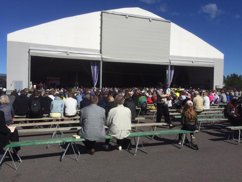 Kesällä pidetyt valtakunnalliset Evankeliumijuhlat toivat paikalle noin 14000 kävijää.