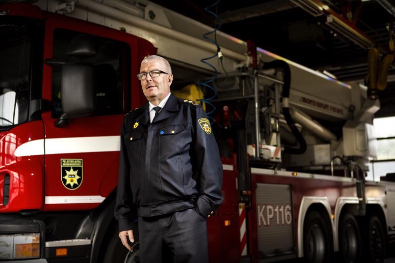 Kerran palomies, aina palomies. Pelastusjohtaja Jaakko Pukkinen aloitti palokunnassa jo 1970-luvun lopussa.