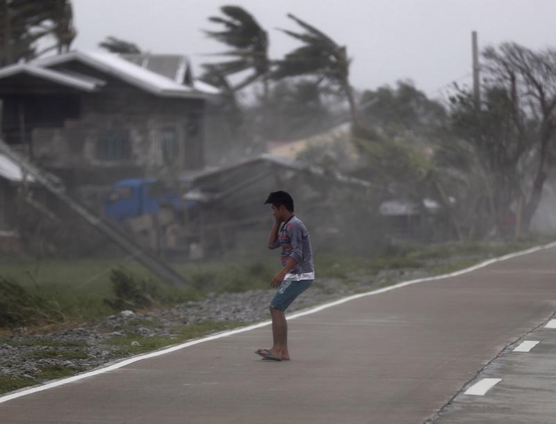 Mangkhut raivosi Baggaon kaupungissa Filippiinien Cagayanin alueella.