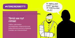 SAK:n Viimeinen niitti -mainoskampanja jatkuu kohutulla kuvalla verkkosivulla www.sak.fi/viimeinenniitti.