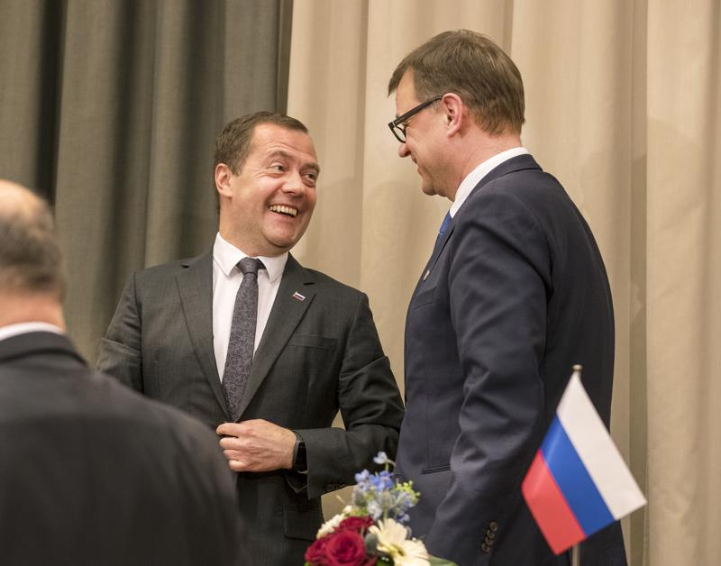 Pääministerit Dmitri Medvedev ja Juha Sipilä ovat tavanneet säännöllisesti. Kuva on tapaamisesta vuodelta 2016.