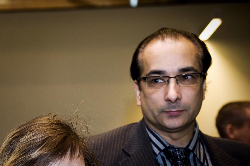 Ammattiliitosta erotettu Heikki Lampela Helsingin käräjäoikeudessa vuonna 2010.