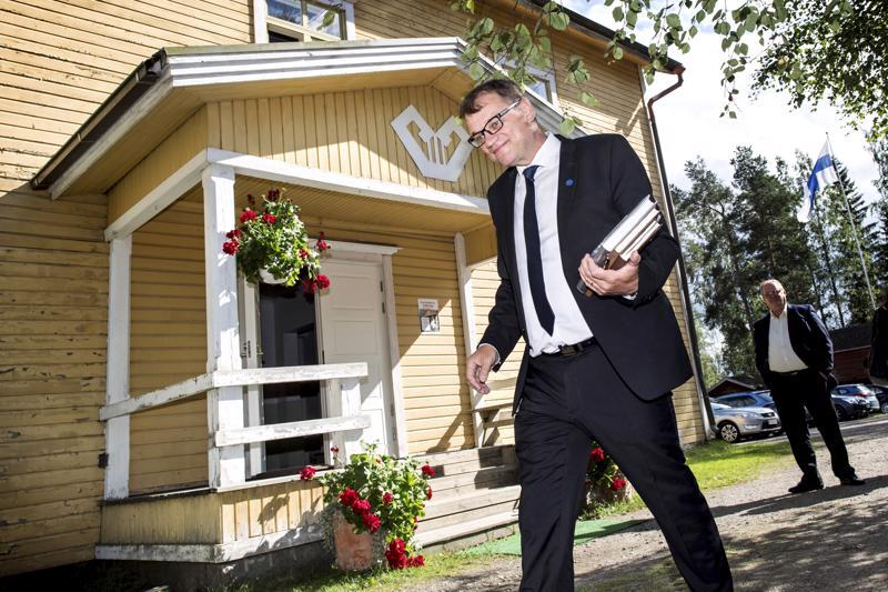 Pääministeri Juha Sipilä vieraili kesällä Vetelissä.