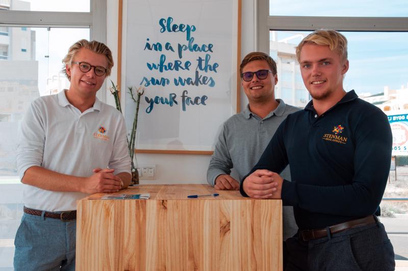 Kim Stenman, Kenneth Ahlgren ja Isak Stenman ovat uusia vaikuttajia Torreviejan asuntomarkkinoilla. Pääkohderyhmänä ovat skandinaaviset asiakkaat.