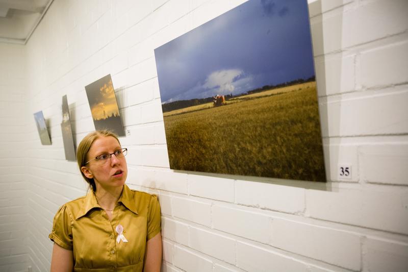 """Tiina Väkeväisen teos """"Työn sarka"""" kuvaa näyttelyn töistä parhaiten hänen sielunmaisemaansa."""