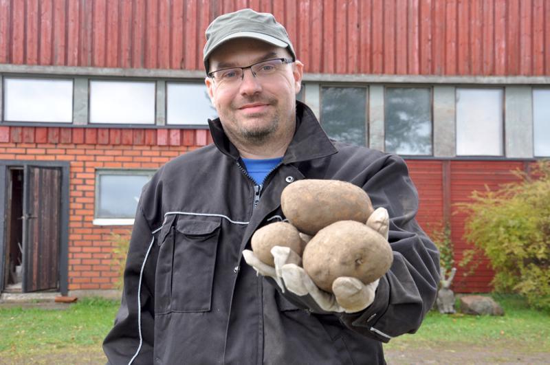 Siemenperunat odottavat jo ensi kevättä, Tommi Kujala kertoo.