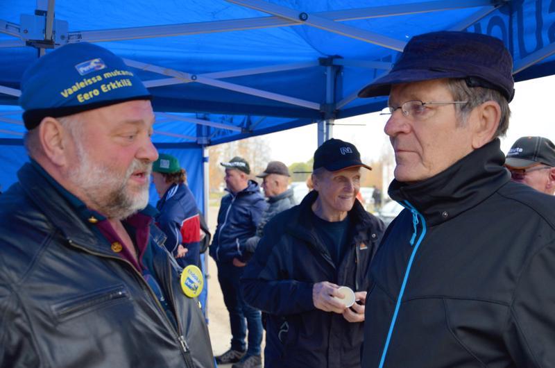 Eero Erkkilä ja Heikki Häyrynen olivat samaa mieltä mahdollisen irtisanomislain tarpeettomuudesta.
