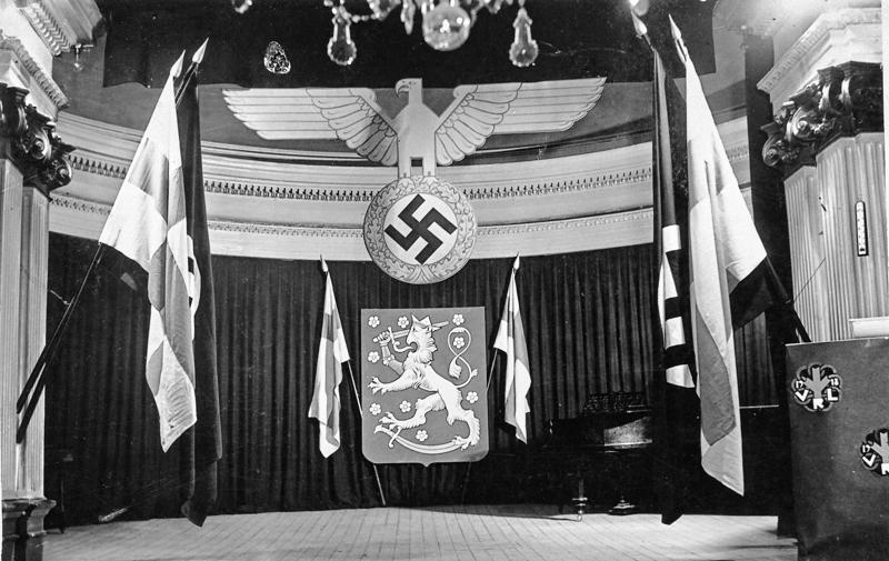 Turussa 3. maaliskuuta 1944 pidetyllä SS-asemiesjuhlalla oli juhlavat puitteet.