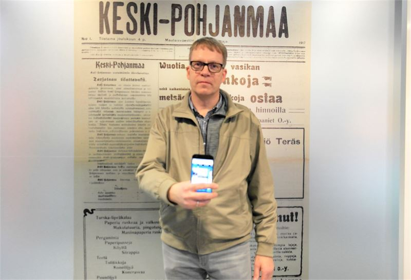 Arpaonni suosi Keskipohjanmaan mobiilisovelluksen ladanneita Matti Salosta ja Ilkka Vihriälää