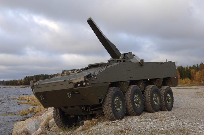 Patria on myynyt Saudi-Arabiaan Nemo-kranaatinheitinjärjestelmän. Kuvituskuvassa Nemo on asennettu Patrian AMV-panssariajoneuvoon.
