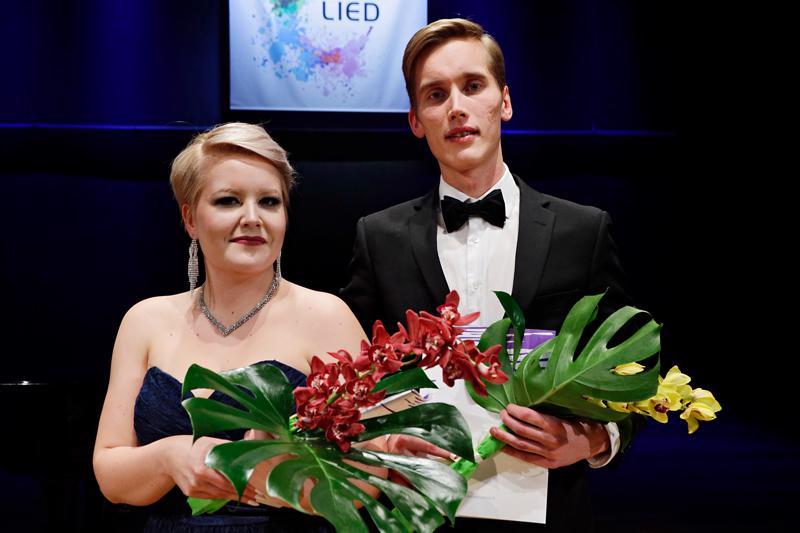 Virva Puumala ja Juho Lepistö voittivat lied-kilpailun Helsingissä.