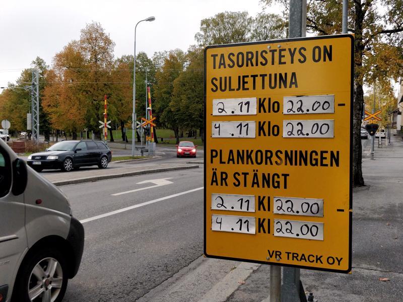 Kaikkien liikkujien on käytettävä kiertoteitä viikonlopun ajan Pietarsaaren Framilla.