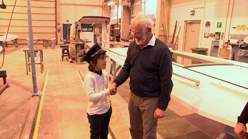 Sven tapasi tehtaan vuonna 1967 perustaneen Edy Sarinin - se oli yksi vierailun tärkeä toive.